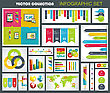 Collection Of Quality Infographics Design. Vector Templates Ready To Display Your Data