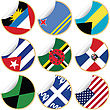 Collection Of Stickers/labels With Country Flags From North, Central And South America, Set 1