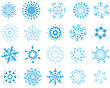 Collection Of Vector Snowflakes In Different Shape
