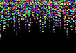 Color Abstract Light Spots On Black