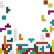 Color Background With Tetris Design