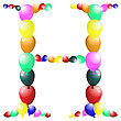Color Balloon Alphabets Letter. EPS 10 Vector Illustration With Transparency