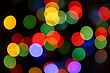 Color Blurred Lights Holiday Background stock photo