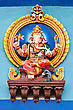 Color Ganesha Statue On The Temple, India stock photo