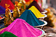 Color Powder On The Indian Market, India stock photography