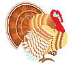 Dinner Color Turkey.Vector Thanksgiving Day stock vector