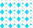Colored 3D Blue Marrakech.Seamless Geometric Background. Modern 3D Texture. Pattern With Realistic Shadow And Cut Out Of Paper Effect