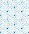 Colored 3D Blue Striped Corners .Seamless Geometric Background. Modern 3D Texture. Pattern With Realistic Shadow And Cut Out Of Paper Effect