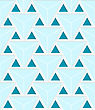 Colored 3D Blue Striped Triangles With Grid.Seamless Geometric Background. Modern 3D Texture. Pattern With Realistic Shadow And Cut Out Of Paper Effect