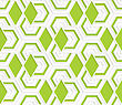 Colored 3D Overlapping With Green Diamonds Hexagons .Seamless Geometric Background. Modern 3D Texture. Pattern With Realistic Shadow And Cut Out Of Paper Effect