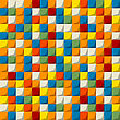 Colored Mosaic Seamless Pattern Design