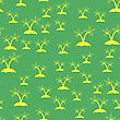 Colored Palm Seamless Pattern Isolated On Green Background stock vector