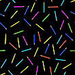 Colored Pencils Seamless Pattern On Black Background