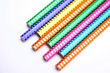 Colored Pencils with Designs stock photography