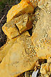 Colored Rough Yellow Big Stones stock photography
