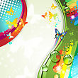 Colorful abstract background with butterflies