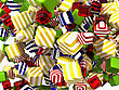 Colorful Abstract Cubes Or Candies
