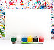 Colorful Abstract Watercolor Background Splash With A Blank Paper stock photography