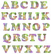 Colorful Alphabet Isolated. Set Of Colored Letters On White