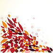 Colorful Autumn Leaves. Vector Illustration stock illustration