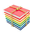 Paper Colorful Books Tied Up With Chains stock image