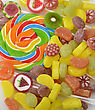 Colorful Candies Assortment ,Close Up stock photography