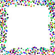 Colorful Confetti Frame On White Background. Paper Frame stock vector