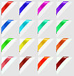 Colorful Corners Marks Isolated On Grey Background