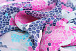 Fold Colorful Fabric As A Background. stock photography