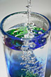 Colorful Glass of Water stock photography