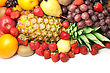 Colored Colorful Healthy Fresh Fruit. Shot In A Studio stock photography