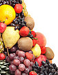 Colorful Healthy Fresh Fruit. Shot In A Studio stock photography