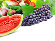 Colorful Healthy Fresh Fruits And Vegetables stock photo