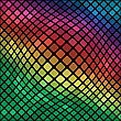 Colorful Illustration With Mosaic Background For Your Design stock illustration