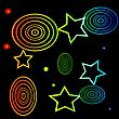 Colorful Illustration With Stars Background For Your Design