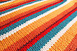 Crochet Colorful Knitwear As A Background. stock image