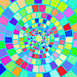 Colorful Mosaic Background. Hypnotic Colorful Mosaic Pattern