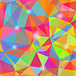 Colorful Mosaic Polygonal Background. Abstract Geometric Pattern