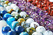 Colorful Natural Stones Necklaces Picture. stock image