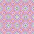 Colorful Ornamental Seamless Line Pattern. Endless Texture. Oriental Geometric Ornament