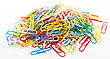 Colorful Paper Clip On White Background Isolate stock image