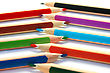 Colorful Pencils On White Background. stock image