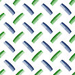 Colorful Plastic Combs Seamless Pattern On White. Barber Supplies Background