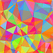 Colorful Polygonal Background. Abstract Colorful Triangles Pattern