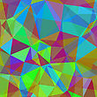 Colorful Polygonal Geometric Background. Abstract Colorful Pattern