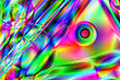 Colorful Psychedelic Background.Raster Illustrations