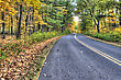 Colorful Scenic Landscape Of Road In High Dynamic Range. stock photography