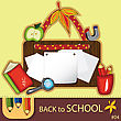 Colorful School Background With Cute School Design Elements And Space For Your Text. Series. #4. Look More In My Gallery