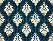 Colorful Seamless Damask Ornate Pattern