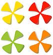 Colorful Set Leaf Symbol Icons